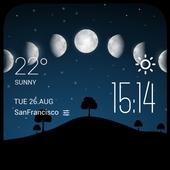 Moon eclipse2 weather widget icon