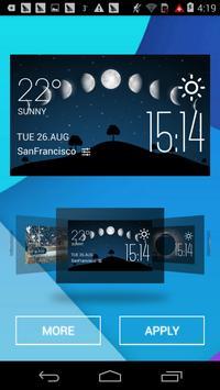 Moon eclipse2 weather widget apk screenshot