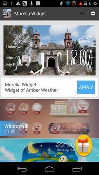 Morelia weather widget/clock apk screenshot