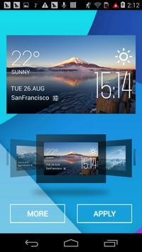 Mount Fuji1 weather widget apk screenshot