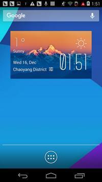 Everest1 weather widget/clock poster