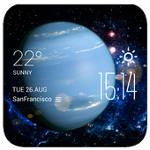 Neptune weather widget/clock icon