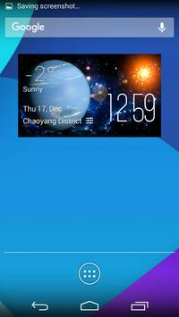 Neptune weather widget/clock poster