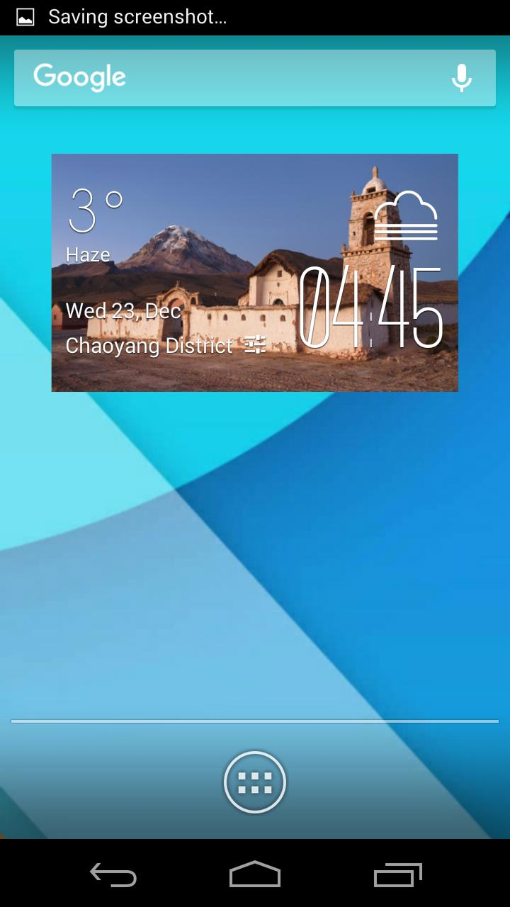 Oruro weather widget/clock for Android - APK Download