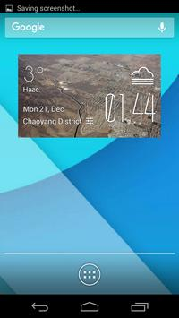 palmdale weather widget/clock poster