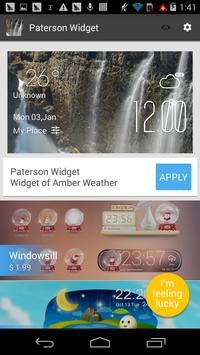 paterson weather widget/clock apk screenshot