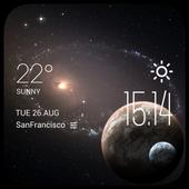 Pluto weather widget/clock icon
