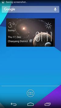 Pluto weather widget/clock poster