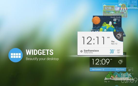 Pluto weather widget/clock apk screenshot