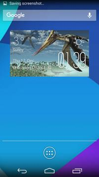pterosaurs weather widget poster