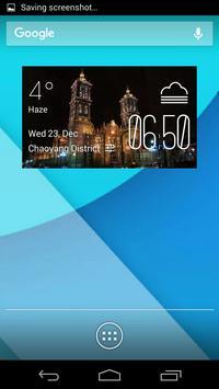 Puebla weather widget/clock poster