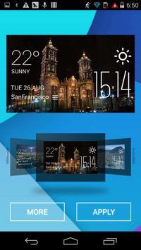 Puebla weather widget/clock apk screenshot