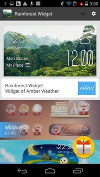 rainforest1 weather widget apk screenshot