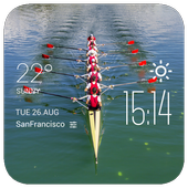 rowing weather widget/clock icon