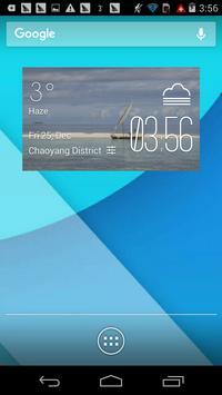 sailboat1 weather widget/clock poster