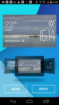 sailboat1 weather widget/clock apk screenshot