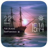 sailboat weather widget/clock icon
