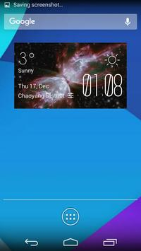 Sign weather widget/clock poster