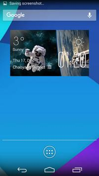 space station1 weather widget poster