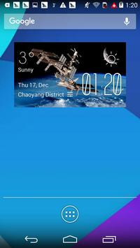 space station2 weather widget poster