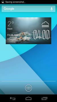 swimming1 weather widget/clock poster