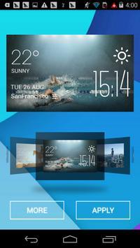 swimming1 weather widget/clock screenshot 1