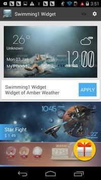 swimming1 weather widget/clock screenshot 2