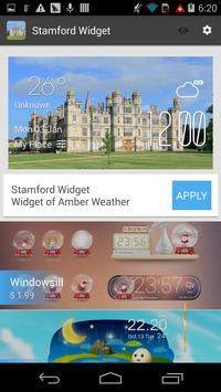 Stamford weather widget/clock apk screenshot
