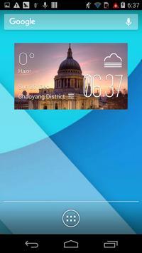 st  paul weather widget/clock poster