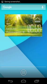 sunny weather widget/clock poster