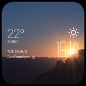 sunrise weather widget/clock icon