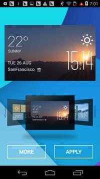 sunrise weather widget/clock poster