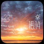 Sunset Cloudsweather widget icon