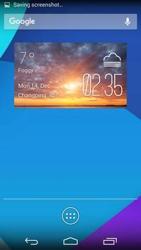 Sunset Cloudsweather widget apk screenshot