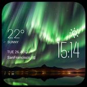 Aurora Weather & Clock Widget icon