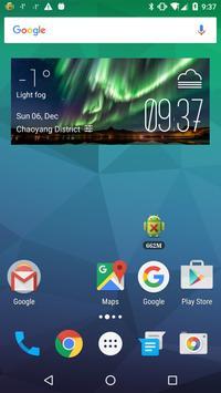 Aurora Weather & Clock Widget poster