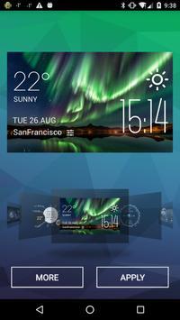 Aurora Weather & Clock Widget apk screenshot