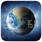 Earth weather widget/clock icon