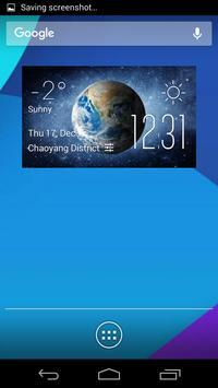 Earth weather widget/clock poster