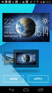Earth weather widget/clock apk screenshot