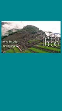 Shandi weather widget/clock poster
