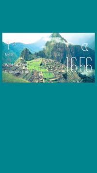 Titian weather widget/clock poster