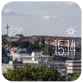 Wuppertal weather widget/clock icon