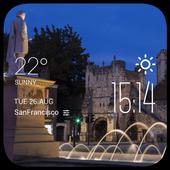 York weather widget/clock icon