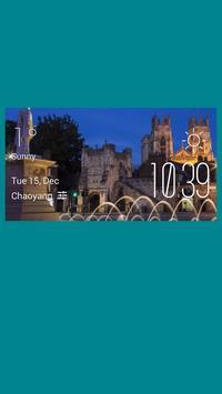 York weather widget/clock poster