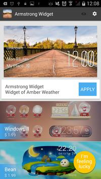 Armstrong weather widget/clock screenshot 2