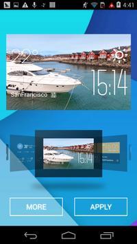 Arish weather widget/clock apk screenshot