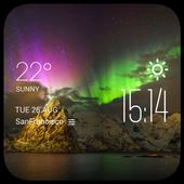 Aurora weather widget/clock icon