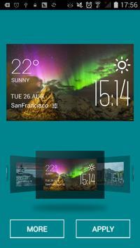 Aurora weather widget/clock apk screenshot