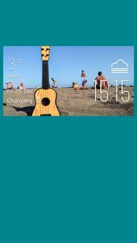 Bass weather widget/clock poster
